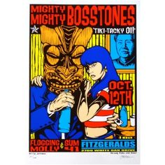 The Mighty Mighty Bosstones Poster w/ Flogging Molly 2000 Concert