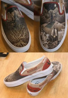 Harry Potter Vans?!!! Every time I see some they get cooler and cooler!