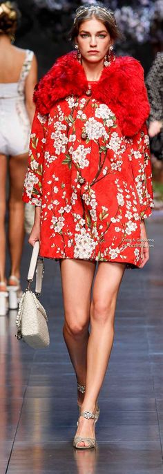 Dolce & Gabbana Spring 2014...love it EXCEPT FOR THE FUR,..FOR ME IT'S FAUX FUR OR NO FUR.