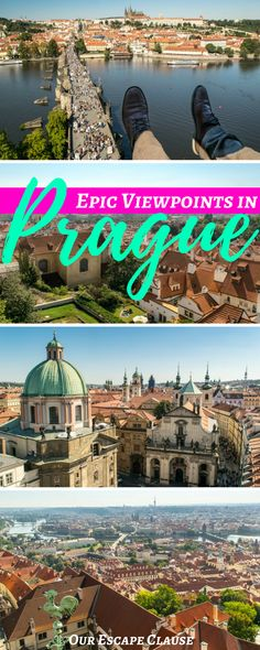 Looking for the best views of beautiful Prague? Check out these incredible viewpoints! #prague #czech #czechrepublic #czechia #cityviews #europe #travel #traveleurope
