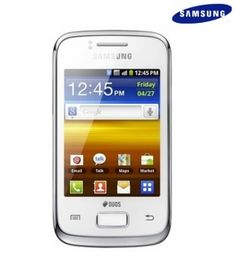 Samsung Galaxy Y Dous S-6102 White .Just  Rs.7,299 @ www.fatkart.com.