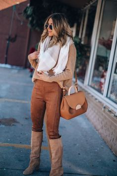 A High-Low Outfit for Thanksgiving (Cella Jane) High Low Outfits, Cute Thanksgiving Outfits, Cella Jane, Tan Boots, Your Girl, Casual Looks, Dress Outfits, Nice Dresses, My Style