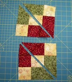 Accidental Quilt block redone 2 Diagonals