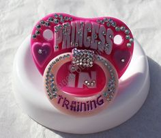 PINK PRINCESS  Bling Baby Pacifier w/Swarovski by BlingedOutThings, $30.00