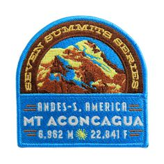 Mt. Aconcagua Seven Summits Series Patch