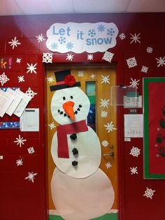 My kindergarten classroom door : winter classroom door decoration ideas - www.pureclipart.com