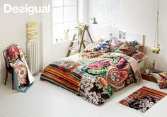 Desigual bedding. I love that bedcover.