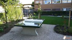 Pingpongtafel Groen bij GGzE de Boei in Eindhoven