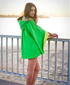lime green poncho