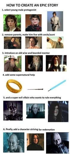 What do Harry Potter, ASOIAF, Star Wars, and The Lord of the Rings/The Hobbit have in common that makes them so popular? Plus Tv, Cinema Tv, Evil Villains, Epic Story, Story Story, Story Writer, Story Ideas, Geek Out, Lord Of The Rings