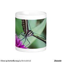Close up butterfly mug