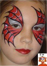 DIY Spiderman Face Paint...more feminine (spider girl?)