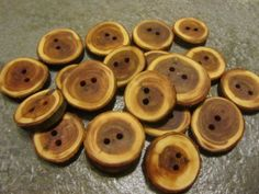 20 Yew Wood Tree Branch Buttons.Just Under 1 by PymatuningCrafts, $13.00