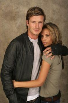 Bare face David Beckham and Victoria Beckham 2005