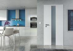 Bílé interiérové dveře Sapeli - HARMONIE dveře do kuchyně Decor, Doors, Table, Furniture, Kitchen, Home Decor, Shopping