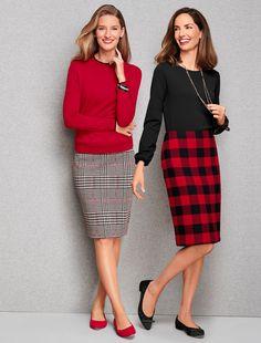 74106f8b77 Skirt into the season wearing a classic pencil skirt that belongs in  everyone's closet. Pair