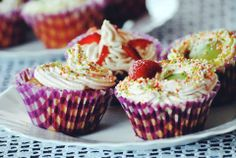 #cupcake #strawberries #sweet #red