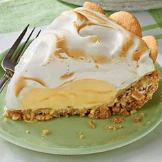 Lemon Meringue Ice-Cream Pie | MyRecipes.com