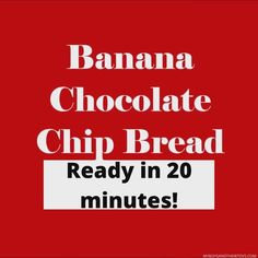 Check out this video to see how you can make chocolate chip banana bread in just 20 minutes! Easy To Make Breakfast, Chocolate Chip Banana Bread, Delicious Breakfast Recipes, Breakfast Muffins, Pressure Cooker Recipes, Smoothie Bowl, Cinnamon Rolls, Bread Recipes, Chips