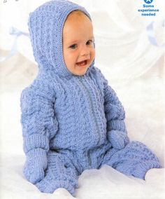 Please Note: This is not the original pattern or a finished item, it is a scanned copy of the original pattern in A4 PDF format, to download and print. (discreetly watermarked)  Baby knitting pattern All in one pram suit and mitts.  You will receive: Baby cardigans pattern and Conversion Tables. UK /US / Australia. To Fit Chest Size: premature 14 The smallest size will fit Premature Babies and Reborn Dolls too. 0 - 3 Months - 41cm - 16 3 - 6 Months - 46cm - 18 6 -12 Months - 51cm - ...