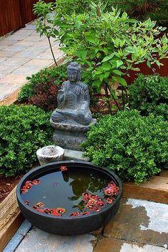 66 Ideas Garden Terrace Zen - Garden Care, Garden Design and Gardening Supplies Asian Garden, Mini Zen Garden, Dry Garden, Moss Garden, Indoor Garden, Garden Plants, Diy Garden Fountains, Diy Fountain, Garden Statues