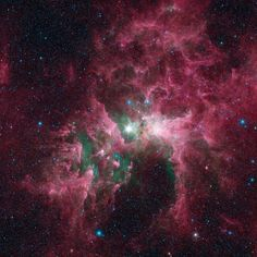 The Eta Carinae (that bright star in the center) is one of the most massive stars in the galaxy — about 100 times the mass of the sun, and a million times brighter. (Taken in 2005 by the Spitzer Telescope.) | 12 Amazing Photos That Will Make You Feel So Very Insignificant