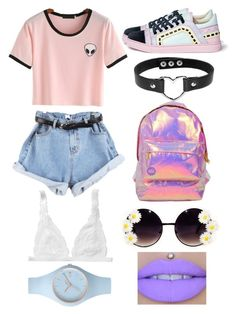 """""""Untitled #182"""" by bandsdestroyamylife on Polyvore featuring Miss Selfridge, Sophia Webster, WithChic, Monki and Ice-Watch"""