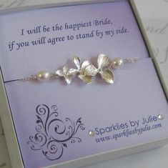 Be By My Side Fancy Bridesmaids Invitation by sparkliesbyjulie, $34.00