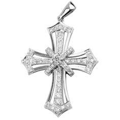 Cross Jewelry Cross Jewelry, Crosses, Cross Pendant, Diamonds, Pendants, Fashion, Moda, Fashion Styles, Hang Tags
