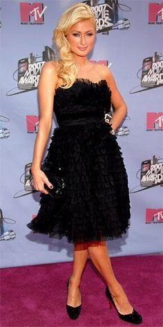 June 2007 Paris Fashion, Fashion Show, Fashion Looks, Paris Hilton Style, Paris Style, Tulle Dress, Strapless Dress Formal, Paris And Nicole, Louis Vuitton Dress