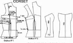 corset >> patrones gratis                                                                                                                                                      Más