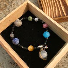 【Lost And Find】Natural gemstone galaxy planet bracelet – Lost and find – Bracelets 【Lost and Find】 Armband mit kosmischen Planeten aus Naturstein Cute Jewelry, Diy Jewelry, Jewelry Accessories, Handmade Jewelry, Fashion Jewelry, Jewelry Design, Jewelry Stores, Jewelry Bracelets, Galaxy Jewelry