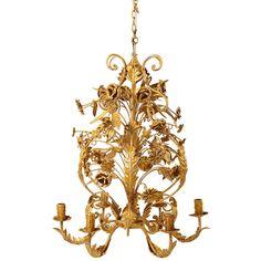 6 Armiger Kronleuchter Aus Goldfarbenem Gealtertem Metall D.53cm | Maisons  Du Monde