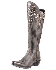 Dear Santa...I have been a very naughty girl...meet me under the Mistletoe!!!!!!!  Women's Hacienda Boot - Old West Black