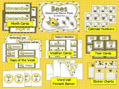 I decided to make a Bee Decor set next. I had this theme the first 2 years I taught. I wish I would have known about TPT then.  ...