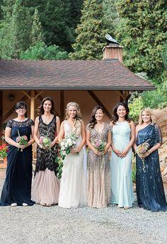 Glamorous bridesmaids