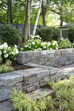 yard landscaping ideas 9525815071 - All For Garden House Landscape, Landscape Walls, Garden Landscape Design, Irish Landscape, Landscape Drawings, Abstract Landscape, Landscape Paintings, Sloped Backyard, Small Backyard Landscaping