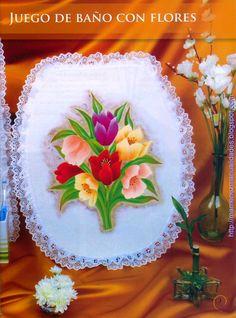 Como pintar flores en tela -revista gratis