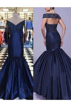 Mermaid Off-the-Shoulder V-Neck Long Blue Prom Dresses Party Evening Gowns 99602304 Orange Prom Dresses, Cheap Short Prom Dresses, Prom Dresses Long With Sleeves, Unique Prom Dresses, Prom Dresses Online, Prom Party Dresses, Pageant Dresses, Bride Dresses, Cheap Evening Gowns