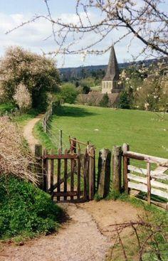 I visit St. James Church, Shere - Surrey, England.