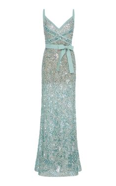 Bead Embroidered Gown by ELIE SAAB for Preorder on Moda Operandi