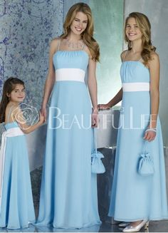 like the idea of chiffony bridesmaid dresses if I have a lacy dress. In red not blue though.