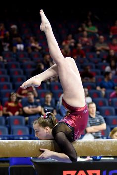 University of Denver gymnast Leah Lomonte mounts the beam. Photo taken on March at the University of Arizona. Tumbling Gymnastics, Gymnastics World, Gymnastics Photography, Gymnastics Pictures, Sport Gymnastics, Artistic Gymnastics, Olympic Gymnastics, Gymnastics Leotards, Gymnastics Problems
