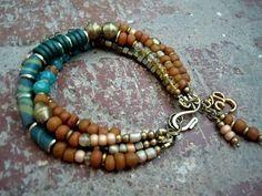 Gypsy Bracelet / Bohemian Bracelet / Boho Jewelry / by Syrena56, $48.00 by lihoffmann #womanbraceletsbeads