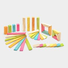 Tegu Explorer Set - cool gifts for kids, maybe the Swedish kids, except the darn blocks are made in Honduras. So much for sending classic American toys. Weren't Lincoln Logs designed by Frank Lloyd Wright's son or something?