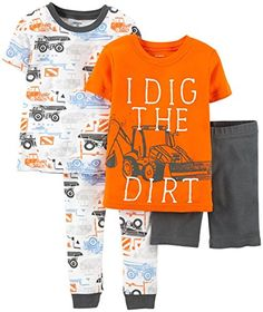 b1cc06cdb Carters 4 Piece Pant PJ Set Baby Construction12 Months * Check out the  image by visiting