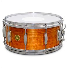 """Gretsch USA Custom Snare • """"Canary Wood"""" • Clear Gloss Nitrocellulose Lacquer • 14""""x6.5"""" (10 lugs) • Specifications: Lightning Throw-off ; G5412MT 42-Stand Snare Wire"""