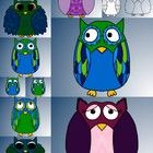This is a set of 13 fun, cute and colorful owls that can be used for personal or commercial use!Please just leave a link back to my store!...