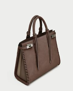 ZARA - WOMAN - CITY BAG WITH STITCHED DETAILING