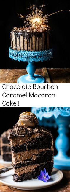 Chocolate Bourbon Caramel Macaron Cake…to Celebrate my little (kind of BIG) Secret!! | halfbakedharvest.com @hbharvest
